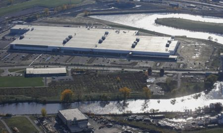 Tesla-SolarCity plant at Riverbend in South Buffalo. [Source: Derek Gee/Buffalo News]
