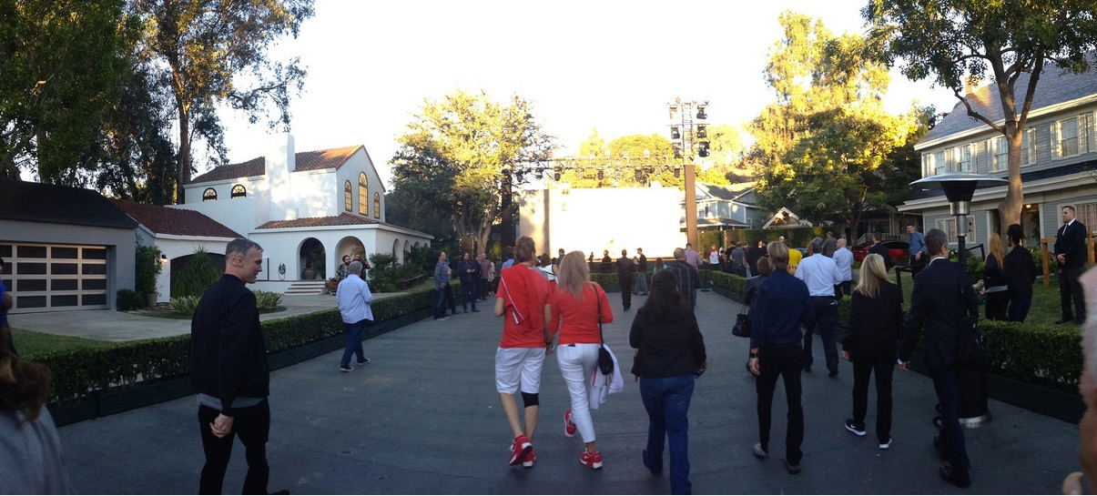 Tesla Solar Roof event on the Universal Studios set for 'Desperate Housewives' [Source: <a href=