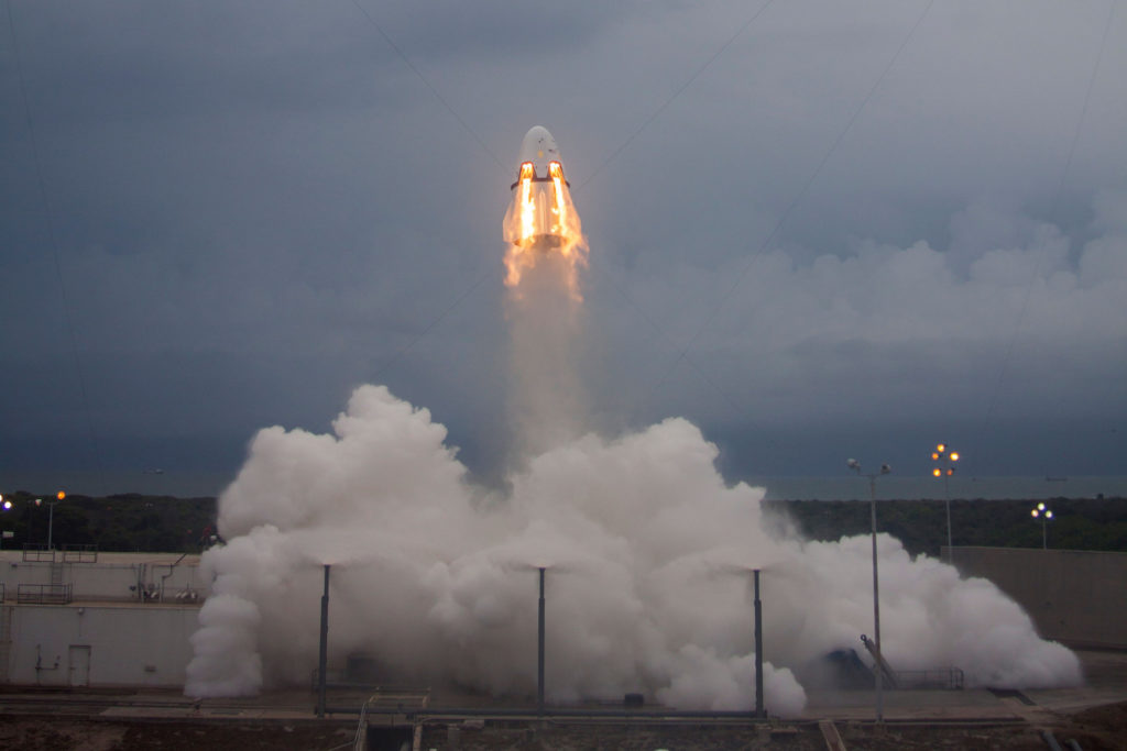 Crew Dragon during launch abort test | Credit: SpaceX