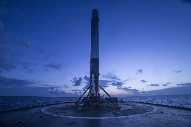 Falcon 9 has landed. | Credit: SpaceX