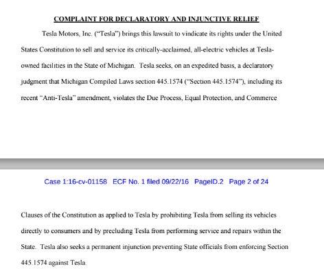 Michigan lawsuite
