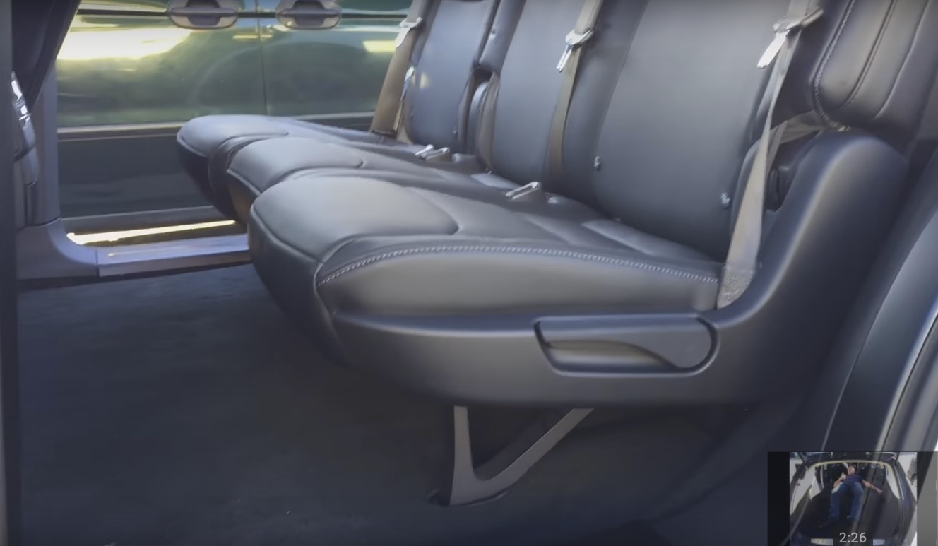 Video Of Tesla Model X 5 Seat Configuration With Folding