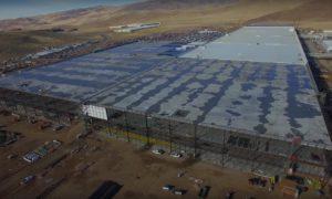 Tesla Gigafactory captured by drone December 2016