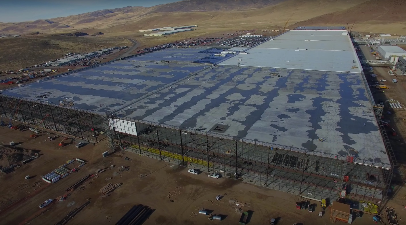 Tesla Gigafactory captured by drone December 2016