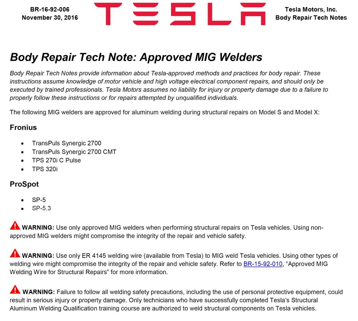Tesla-certified-body-repair-welding-approval