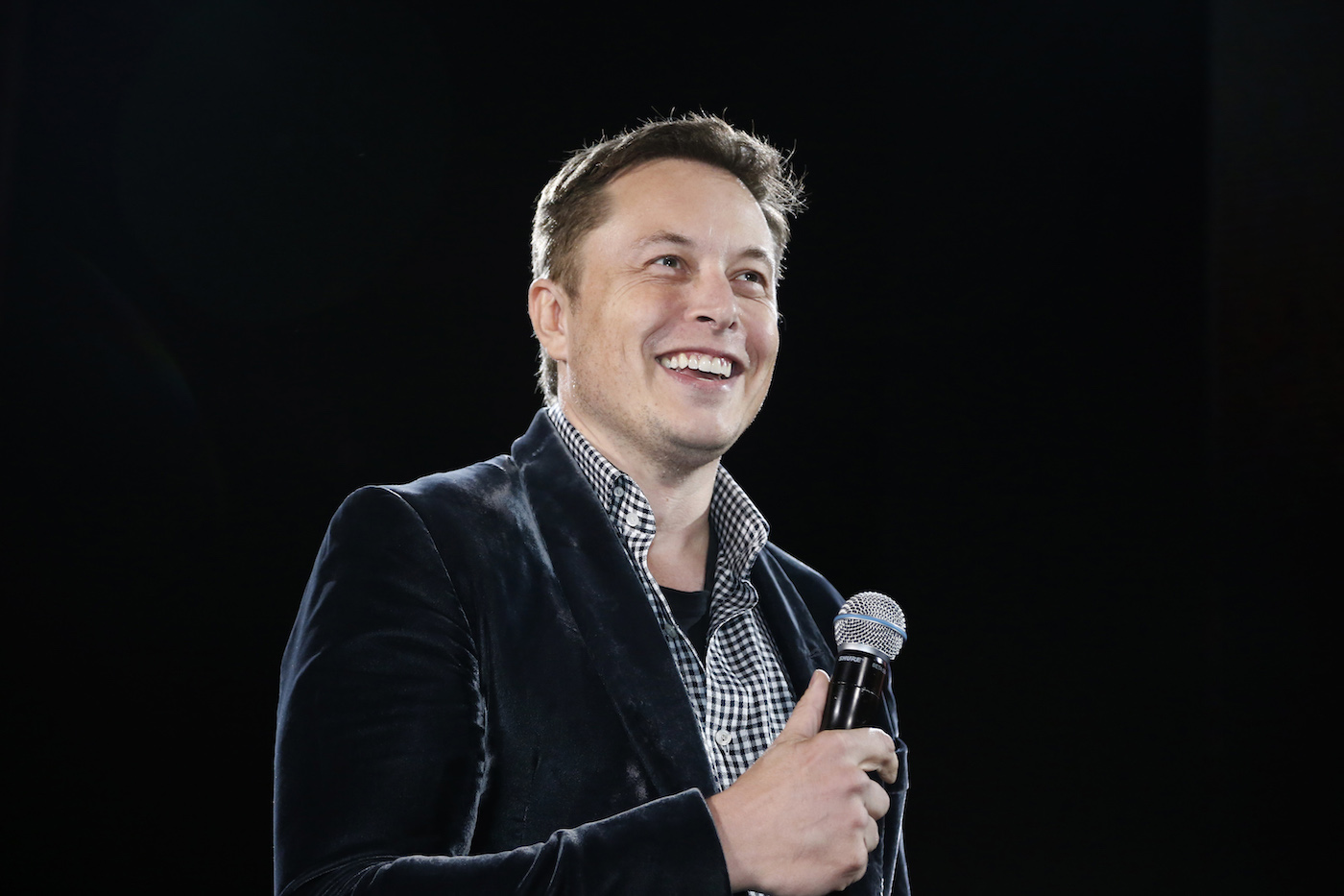 Tesla Motors Inc CEO Elon Musk unveils a new all-wheel-drive version of the Model S car in Hawthorne, California