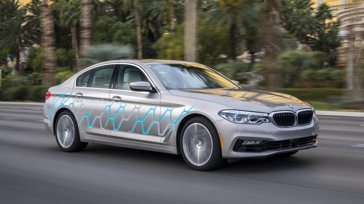 BMW 5 Series autonomous car at CES