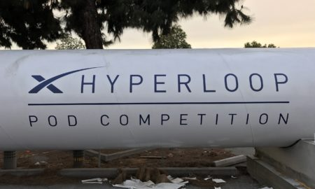 Hyperloop test track outside of SpaceX