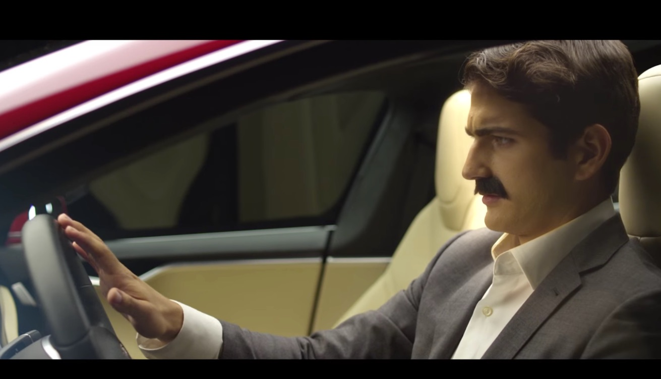 Nikola tesla steps into a model s in new fan made commercial for Nikola motors stock price