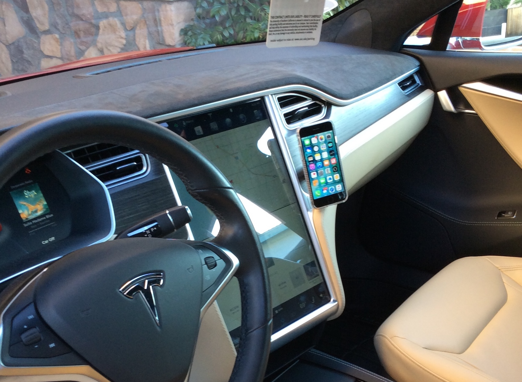 Installing a hands-free magnetic cell phone mount on a Tesla