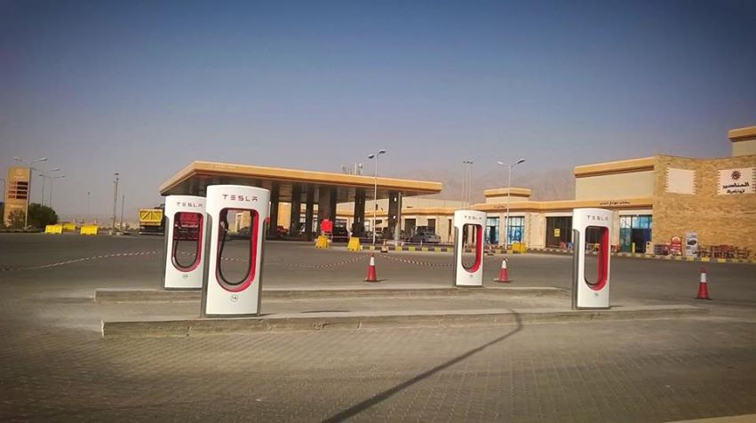 Tesla Supercharger in Jordan