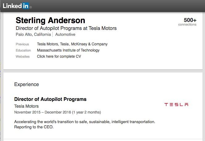 Tesla-Director-Autopilot-Sterling-Anderson-LinkedIn