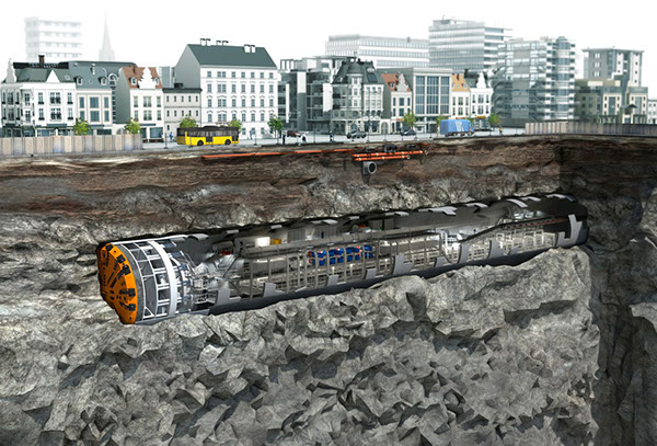 Tunnel-digging-machine-city