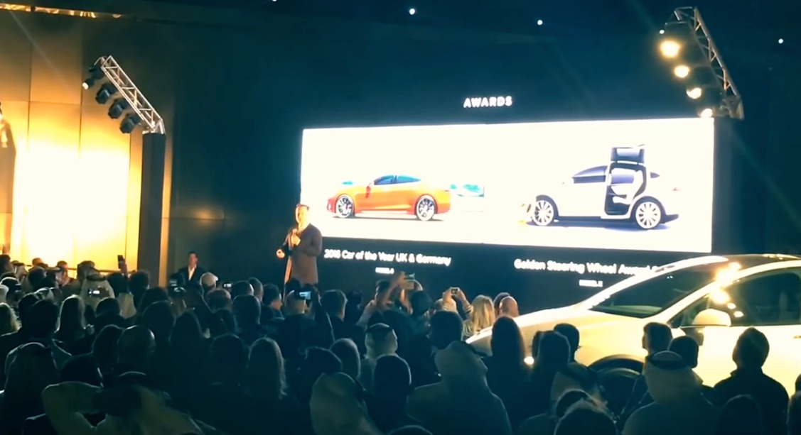 Elon Musk Presents At The Tesla Launch Event In The Uae