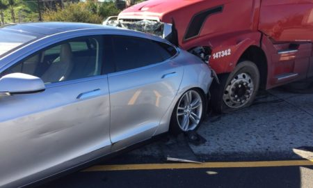 Model S rear end collision