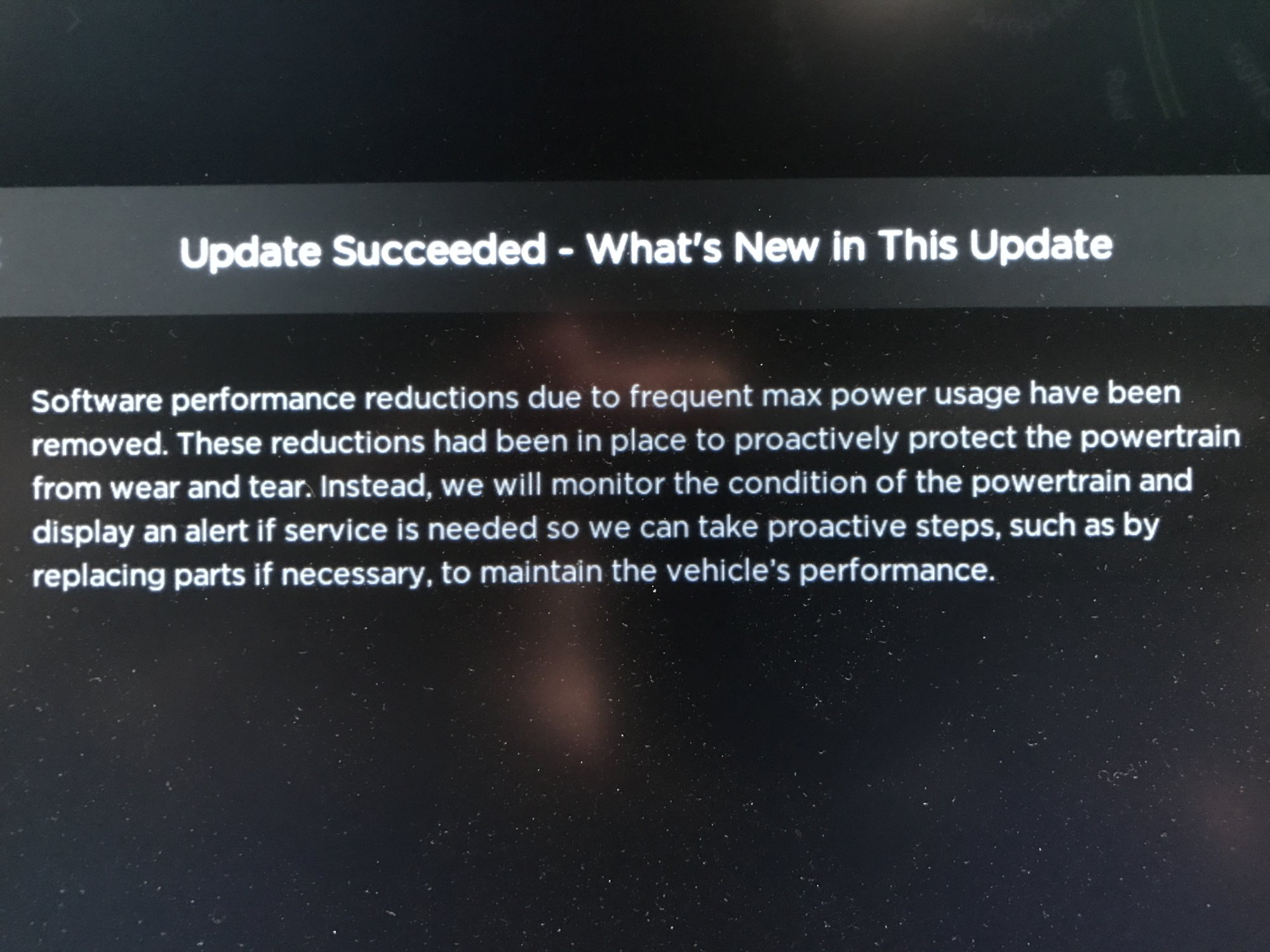 Performance limit removed