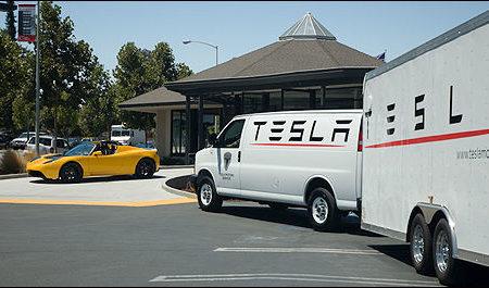 Tesla mobile repair service