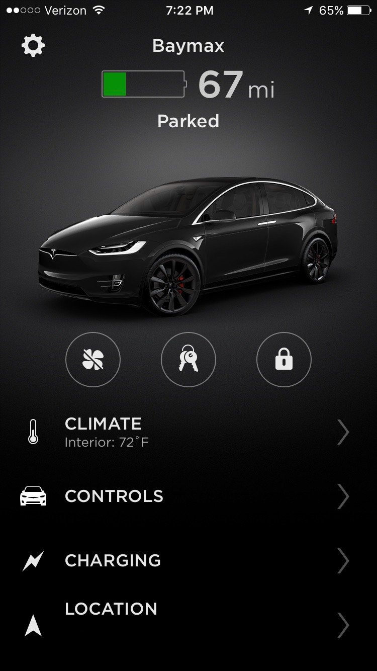 Tesla Refreshes Mobile App With Modern Ui Touch Id And