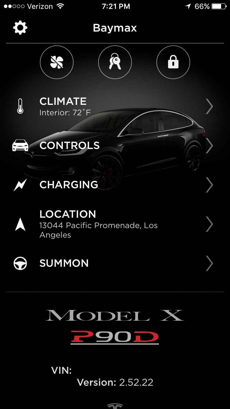 tesla refreshes mobile app with modern ui touch id and improved speed. Black Bedroom Furniture Sets. Home Design Ideas