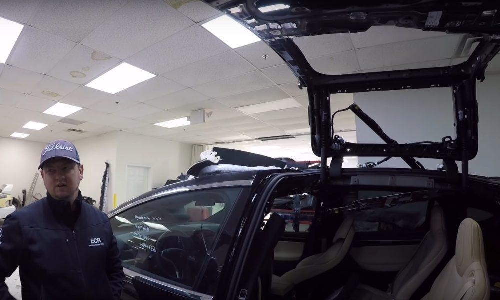 Tesla Certified Repair Shop Goes Inside The Model X Falcon