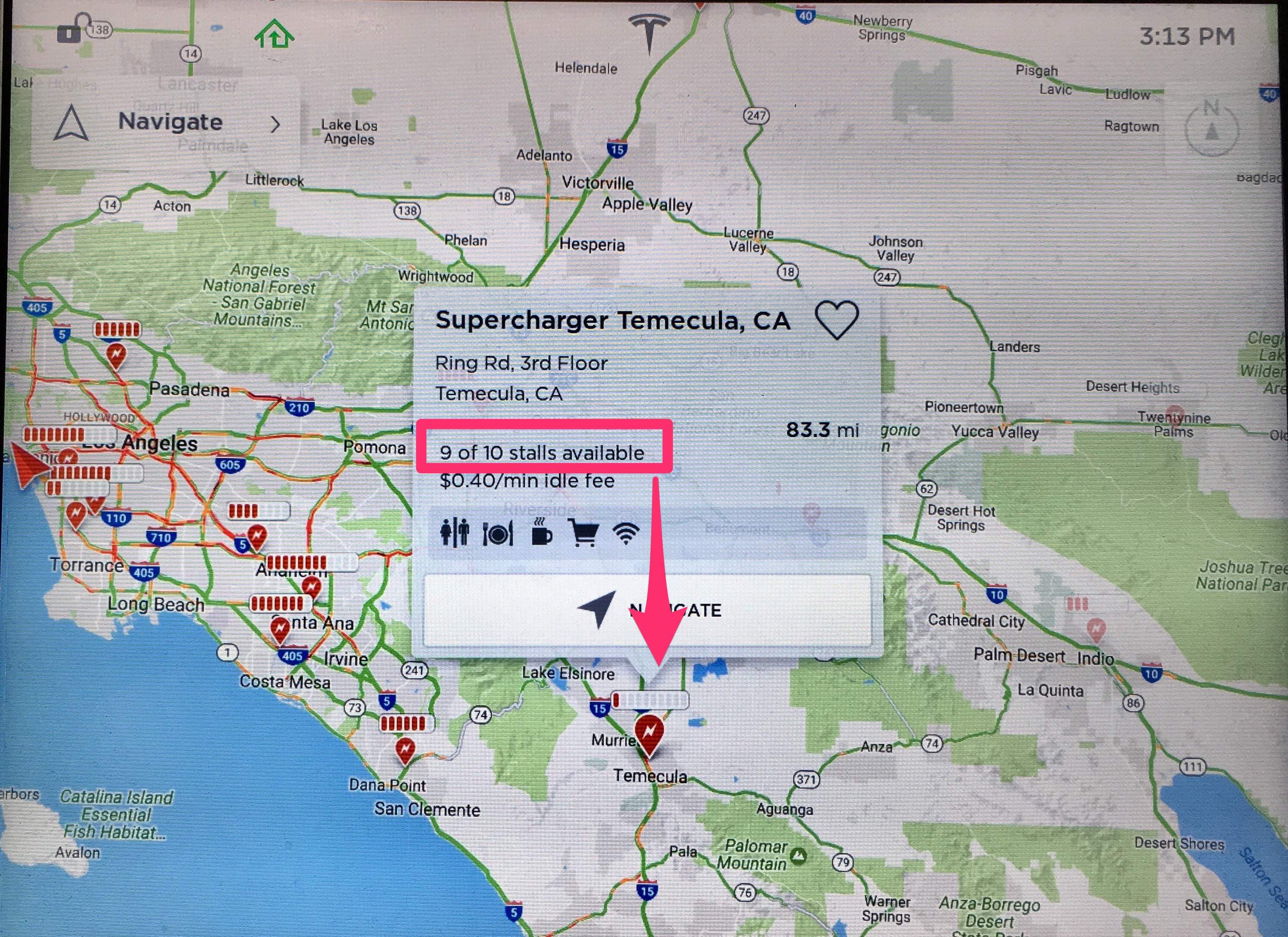 Tesla-real-time-Supercharger-map-occupancy-info