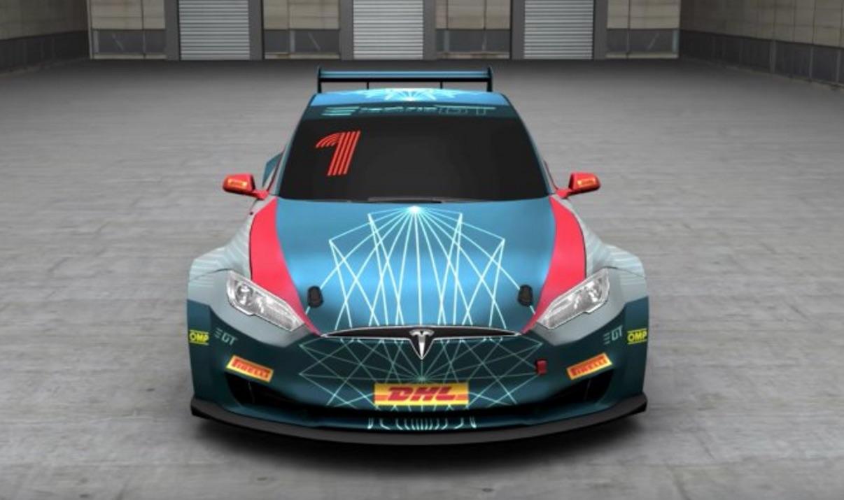 Electric-GT-Tesla-P100D-race-car-front-fascia