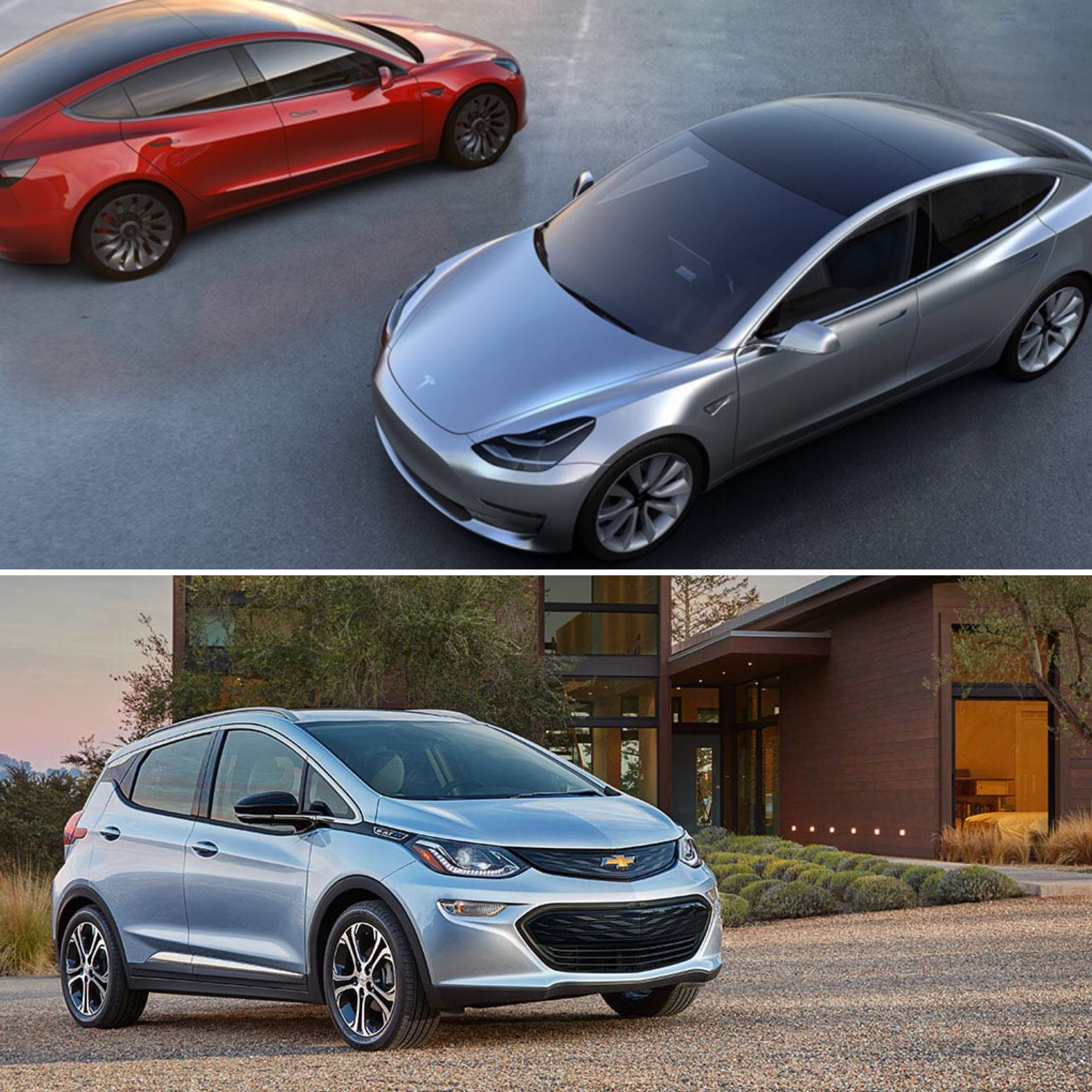 Long Range EV – Tesla Model 3 and Chevy Bolt