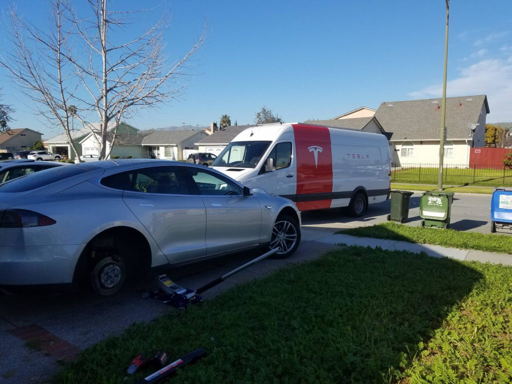 Tesla Launches Mobile Tire Service Program In San