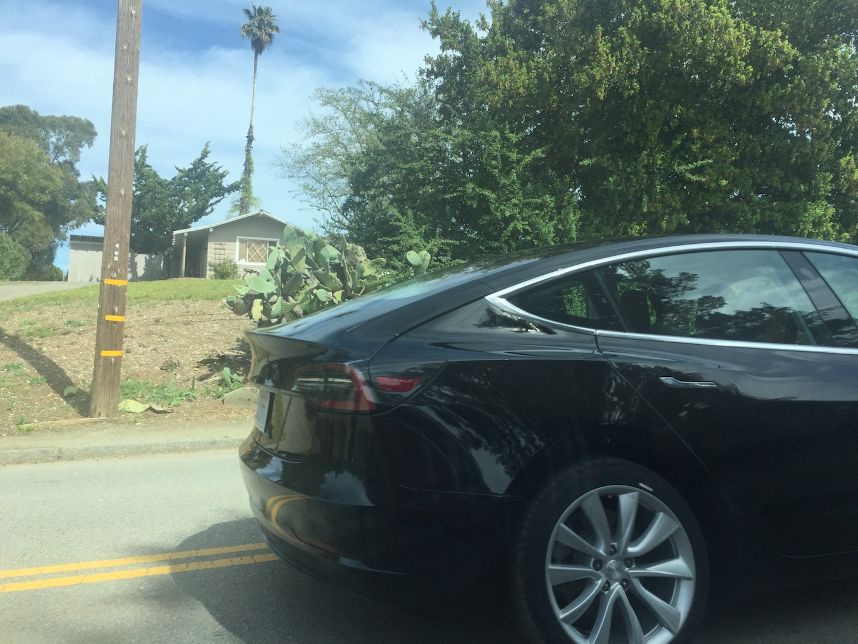 Black-Tesla-Model-3-release-candidate-autopilot-side-camera