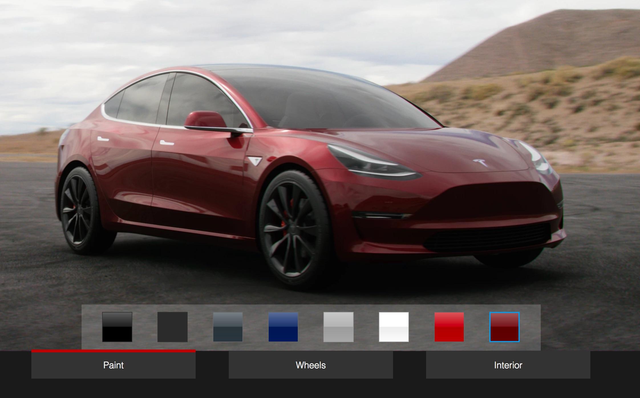 fan made tesla model 3 design studio lets you design the car before designing the car. Black Bedroom Furniture Sets. Home Design Ideas
