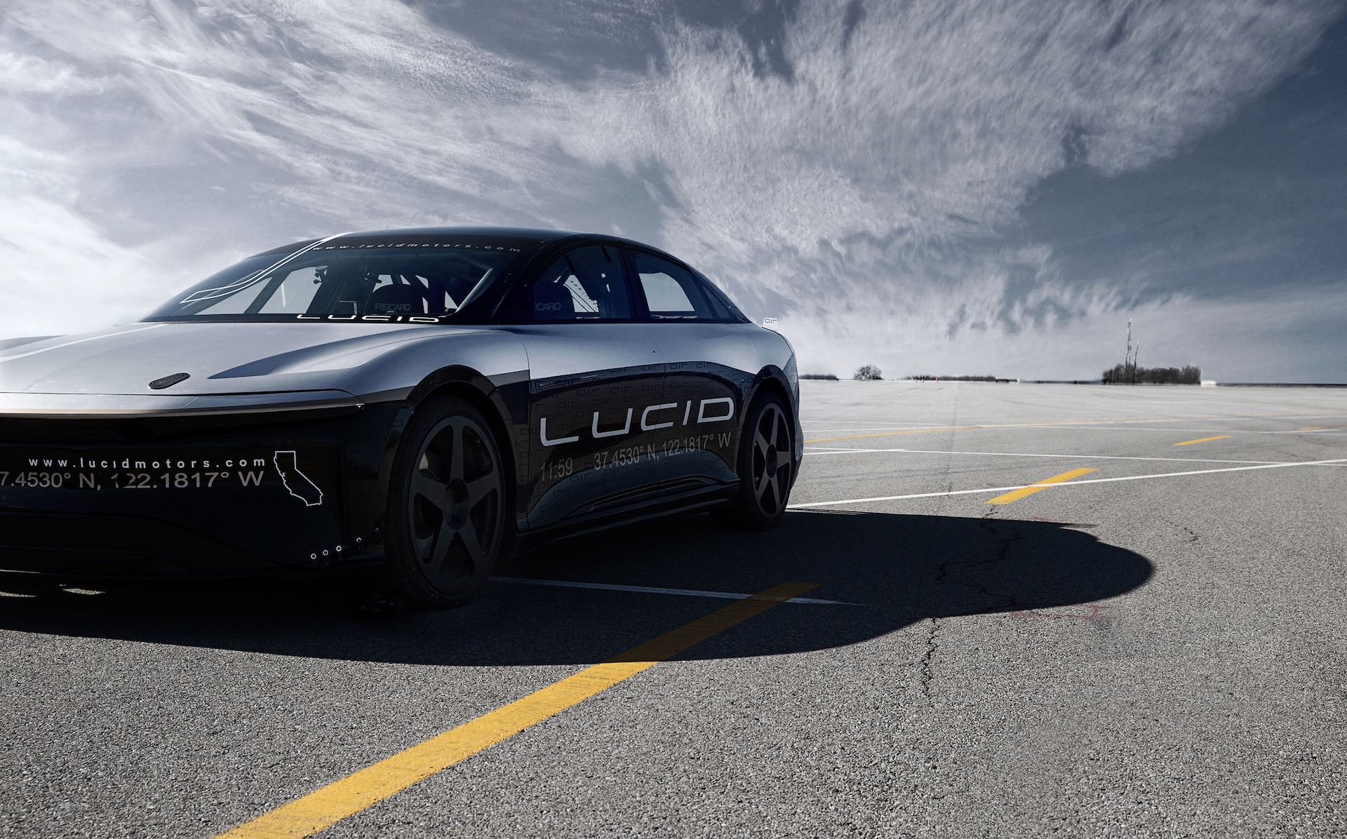 All Electric Lucid Motors Air Reaches 217 Mph In High