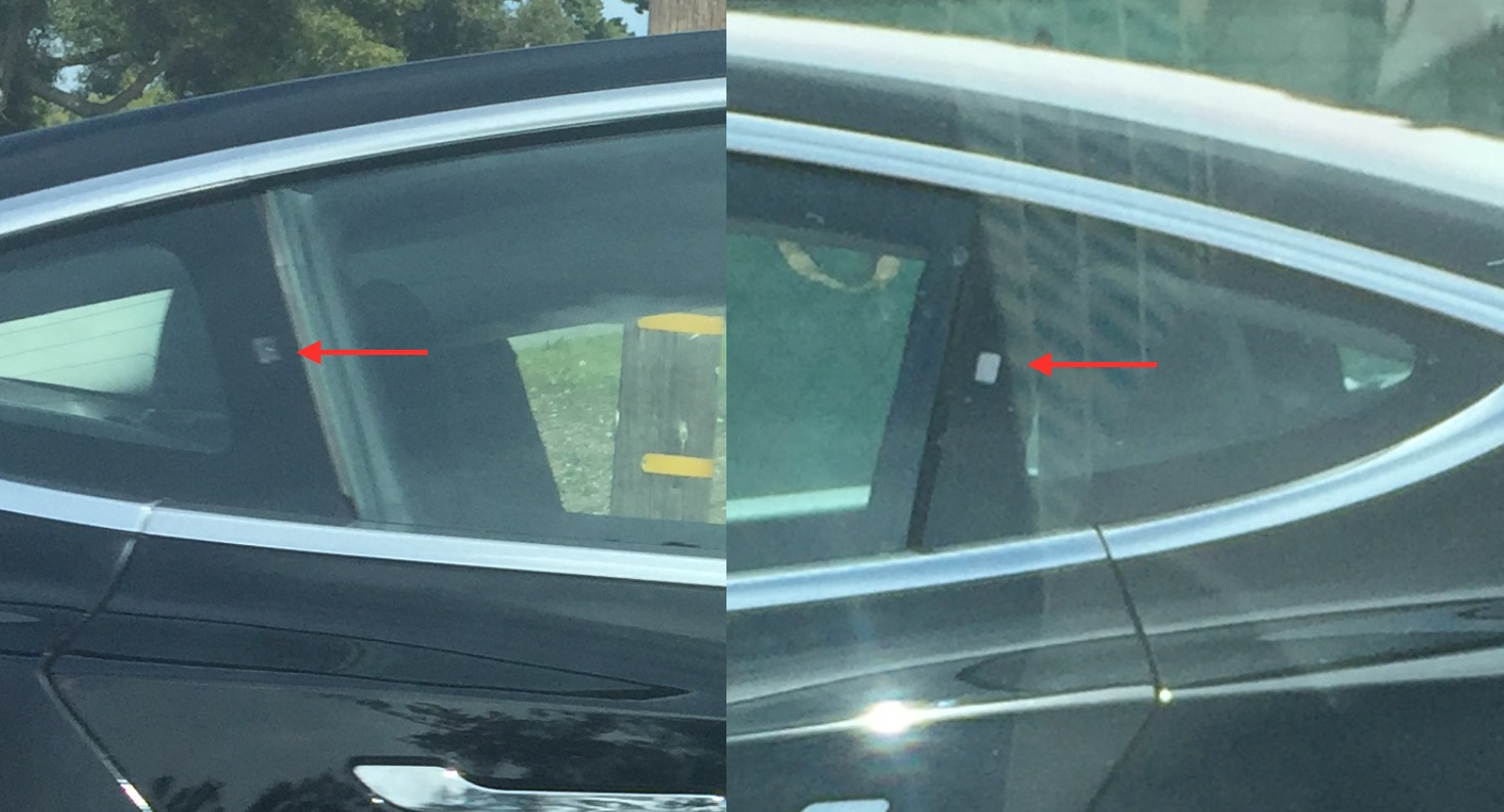 new sensors spotted on tesla model 3 autopilot 2 0 could have 10 cameras. Black Bedroom Furniture Sets. Home Design Ideas