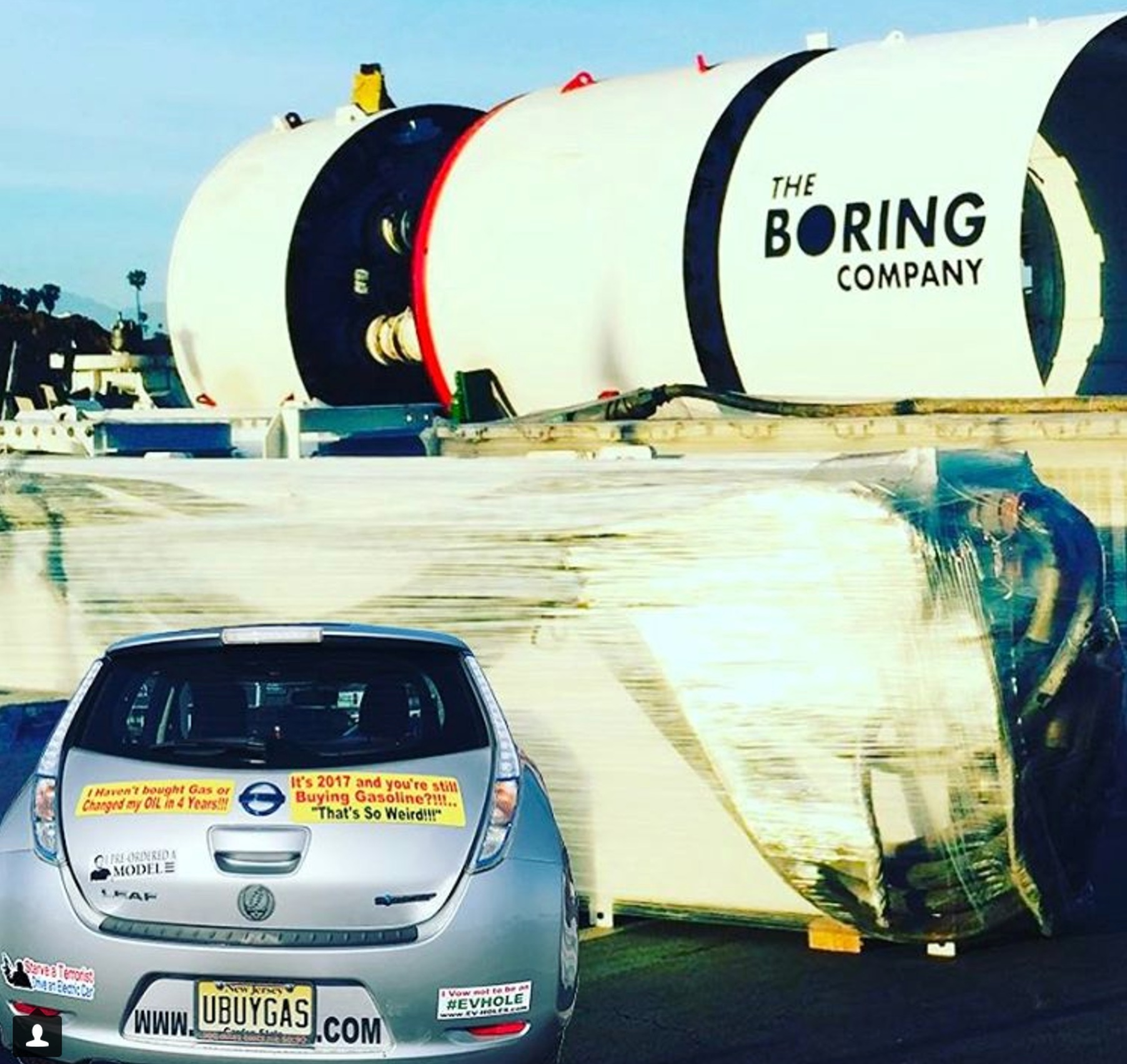 Musk-Boring-Company-equipment-SpaceX-prius
