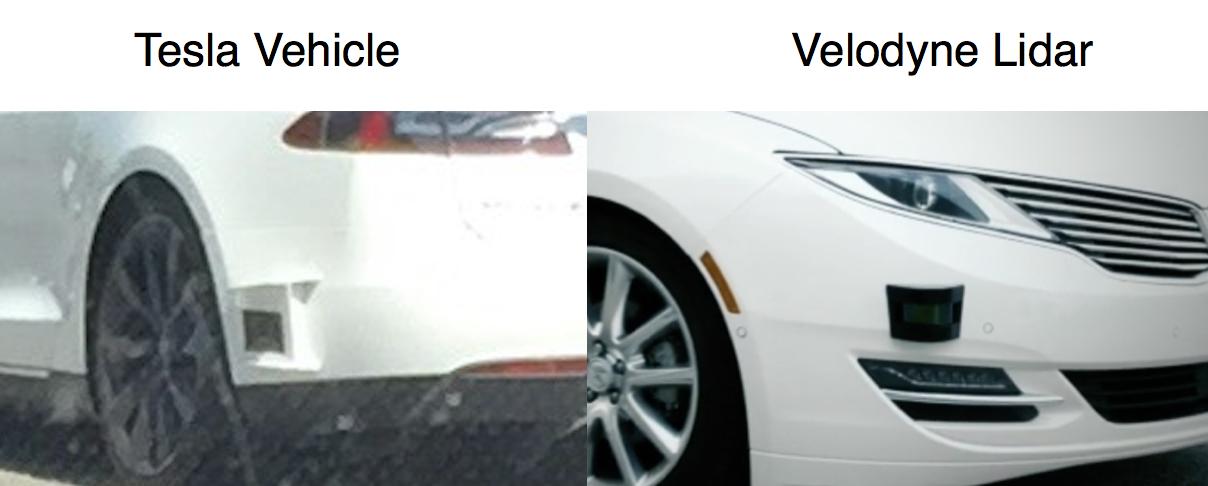 Tesla Lidar Velodyne Lidar compare
