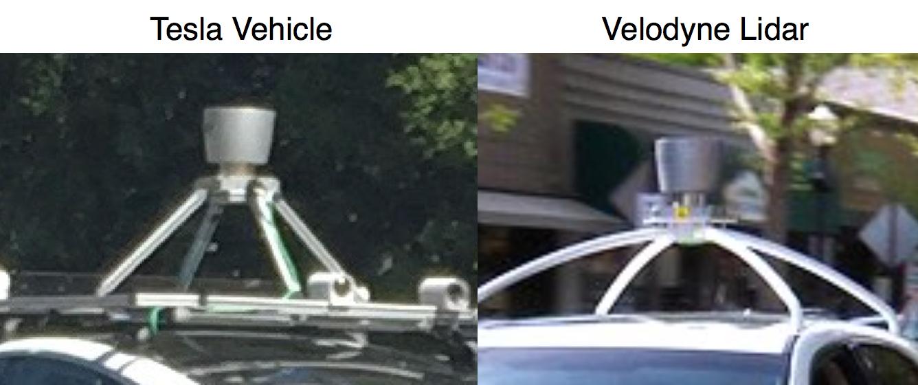 Velodyne Lidar vs Tesla Lidar reveal