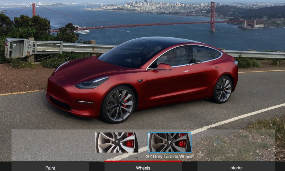 tesla model 3 design studio will initially have choice of color and wheel size. Black Bedroom Furniture Sets. Home Design Ideas