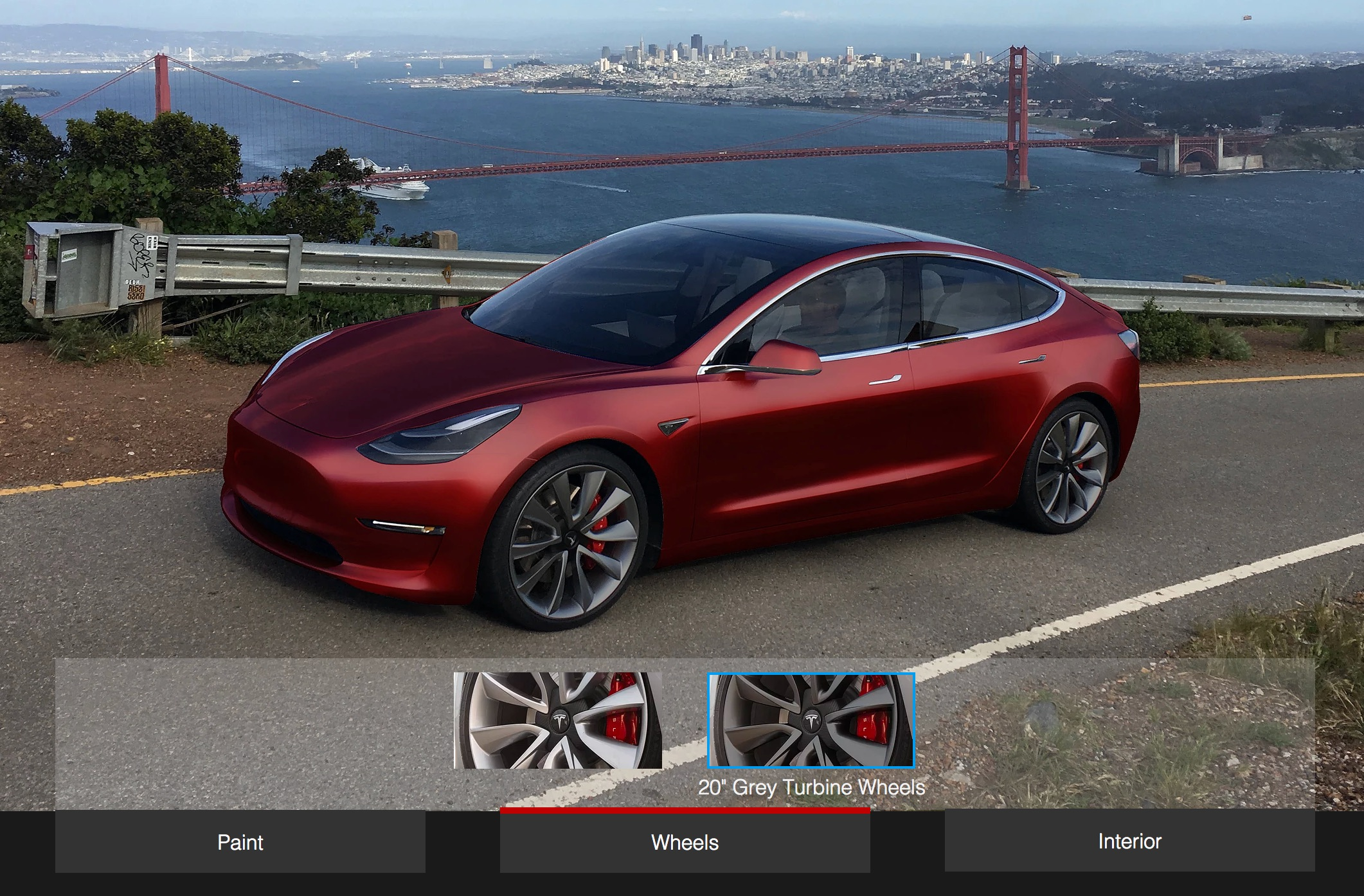 Tesla Model 3 Design Studio will initially have choice of color and
