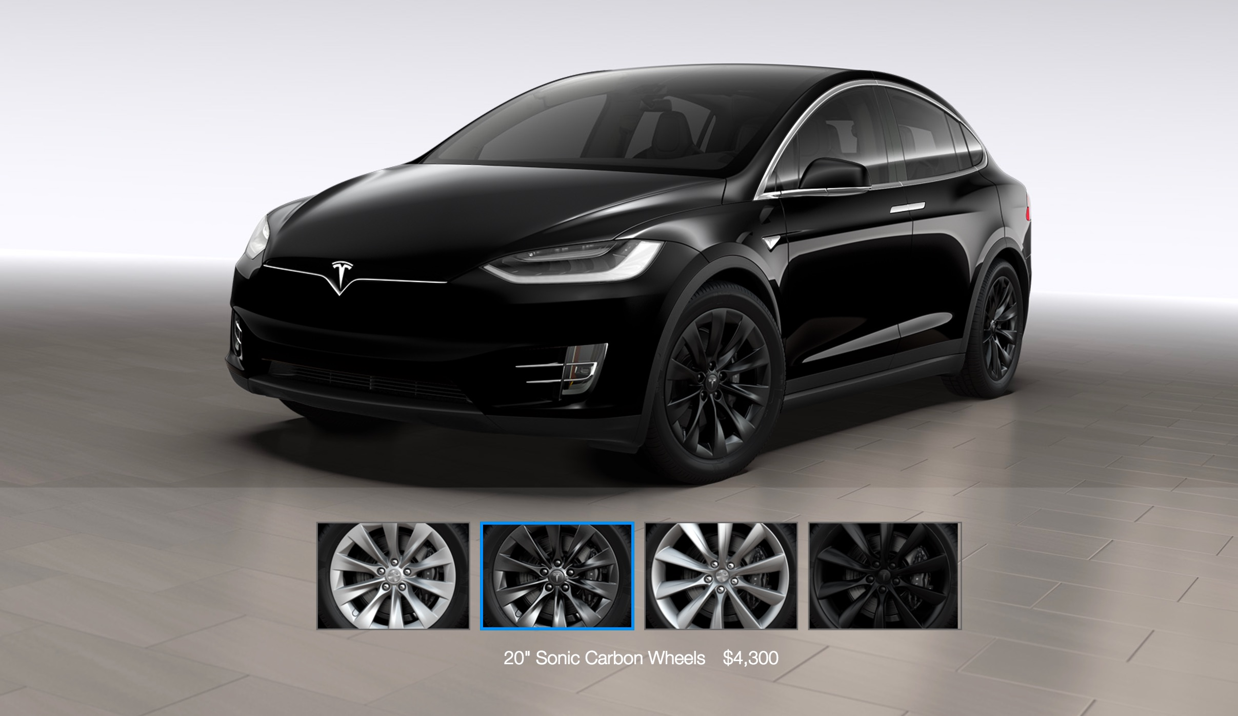 tesla model x gets a 20 sonic carbon wheel and center console option. Black Bedroom Furniture Sets. Home Design Ideas