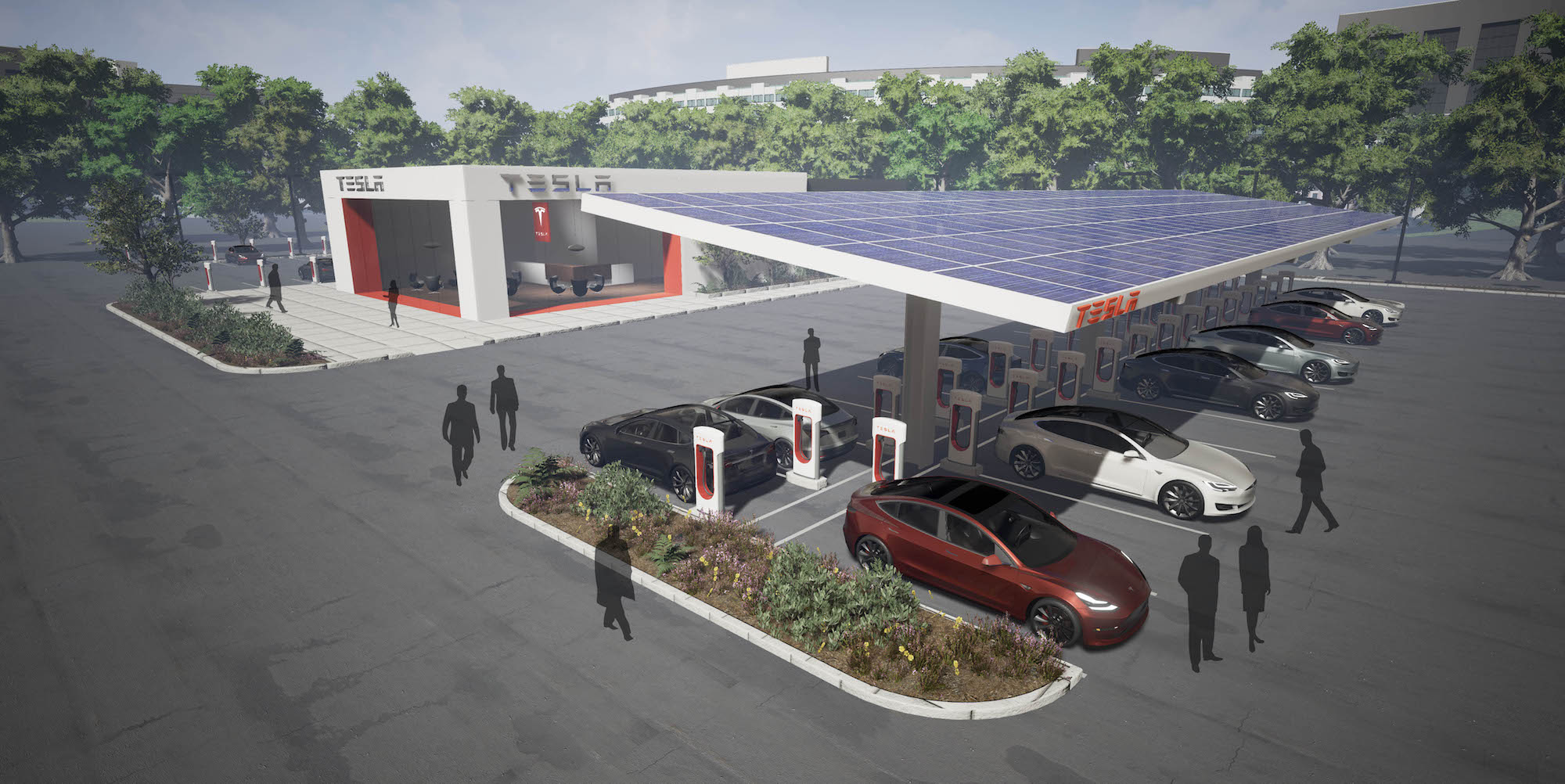 Tesla Doubles Supercharger Destination Charger Expansion besides Electric Car Charging Locations besides Nissan Leaf Charging Stations Map also Tesla Expands Supercharger  work Uk as well Tesla Teams Hy Vee Superchargers Installed Midwest. on tesla supercharger locations