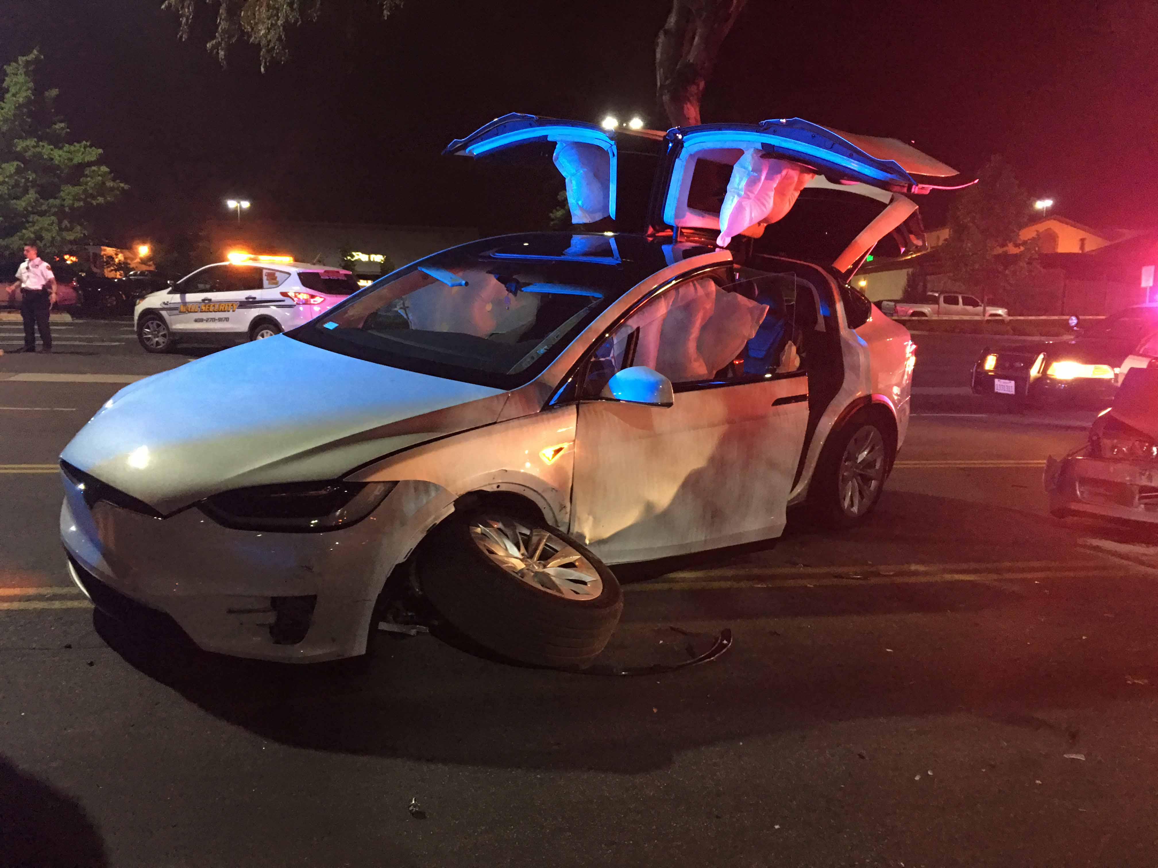 Car Battery Life >> Tesla Model X safety-first approach saves groom's life after hit and run the night before his ...