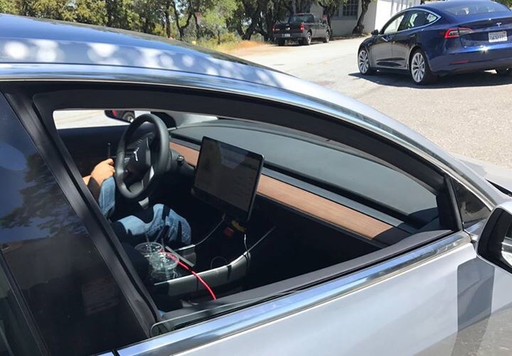 New Photos Of Tesla Model 3 Interior Dashboard Center Console And Steering Wheel