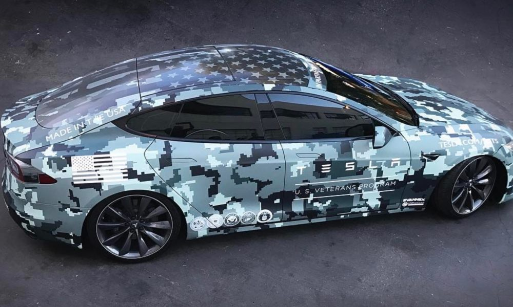 Tesla Honored Veterans On Memorial Day With Custom Wrapped