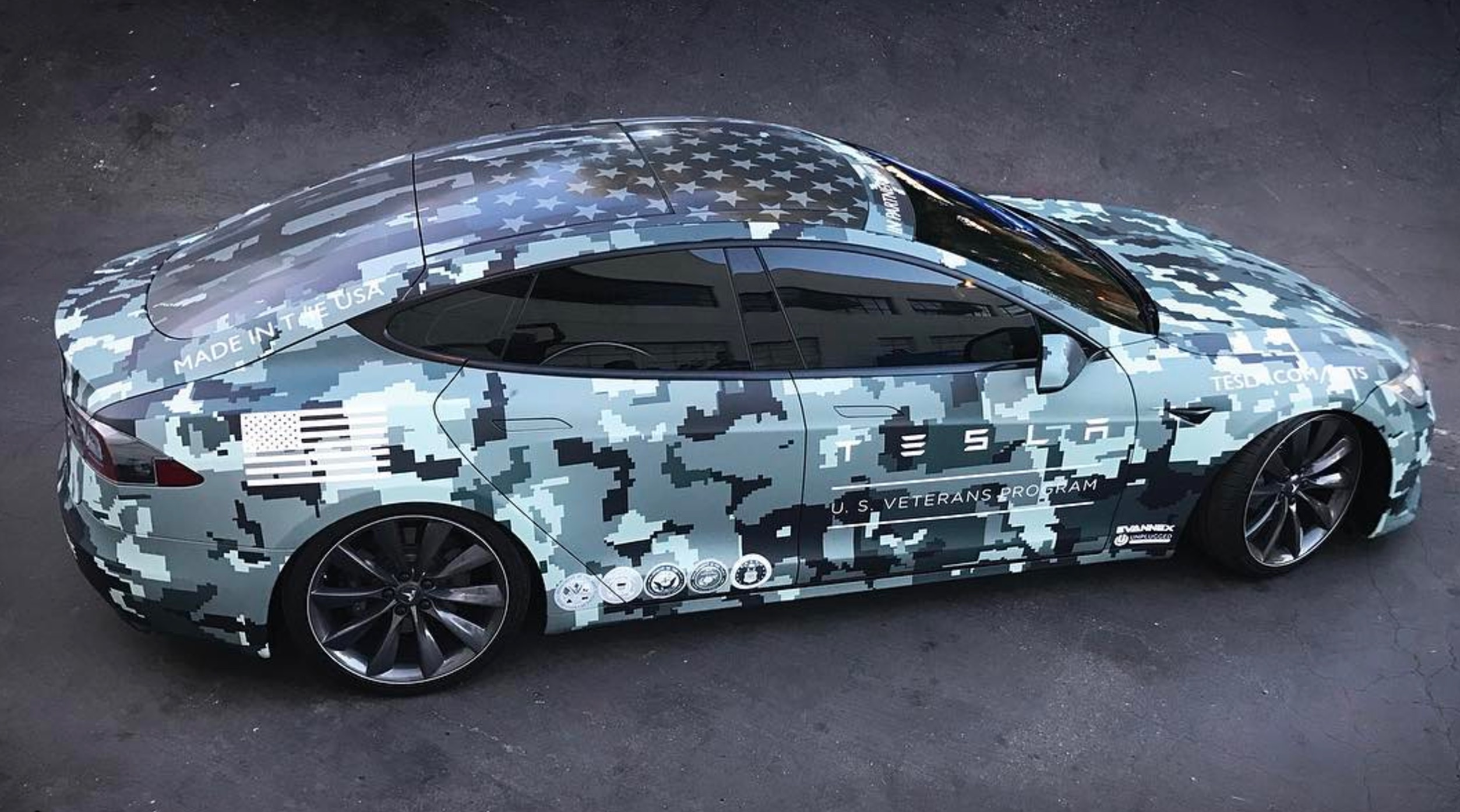 Tesla honored veterans on Memorial Day with custom wrapped ...