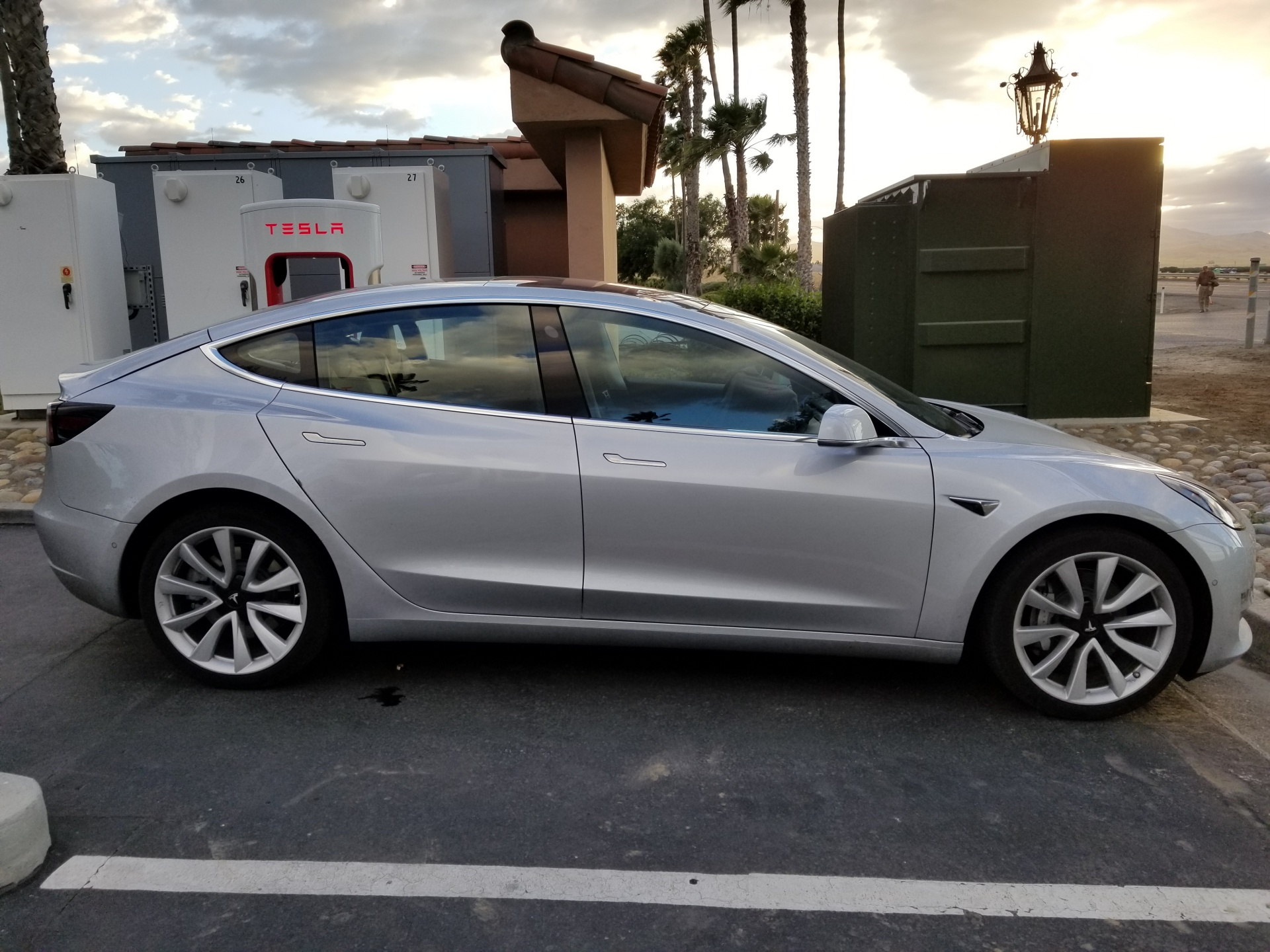 Tesla Model 3 Spotted Supercharging Midway Between Sf And La