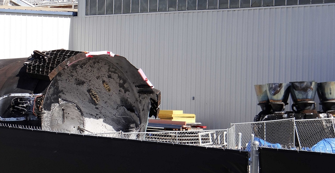 Jason-3 booster remains