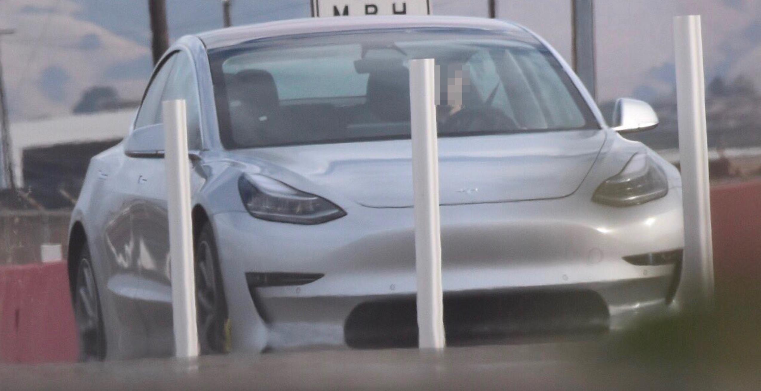 Silver-Tesla-Model-3-test-track-fremont-zoom