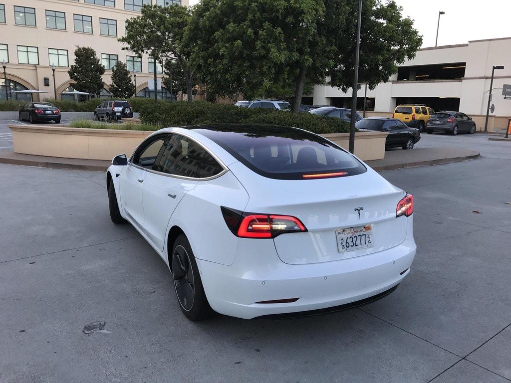 Tesla Model 3 Supercharging Rear Teslarati Com