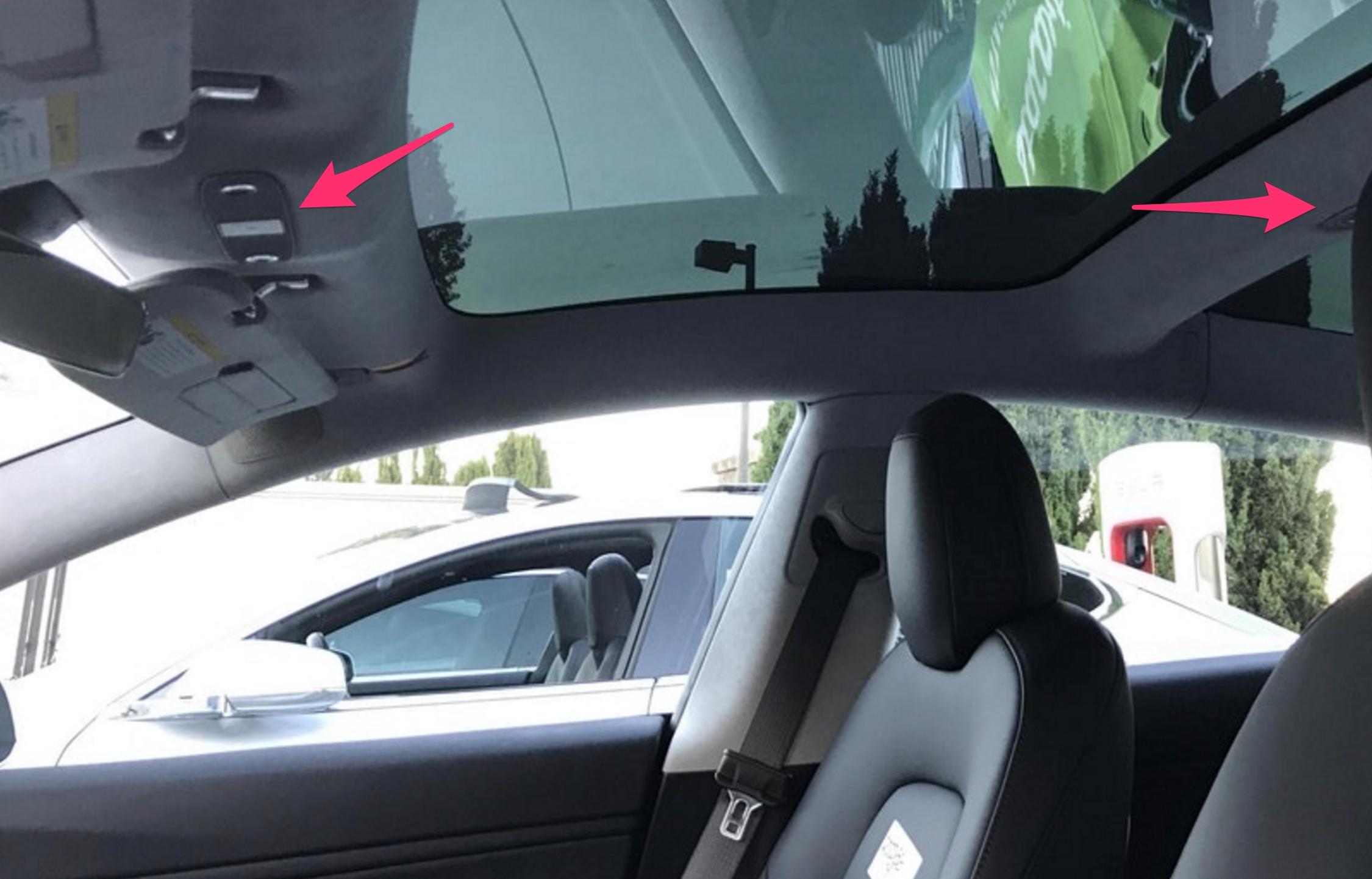 Tesla Model 3 Hidden Details Door Lock Coat Hooks Charge Port