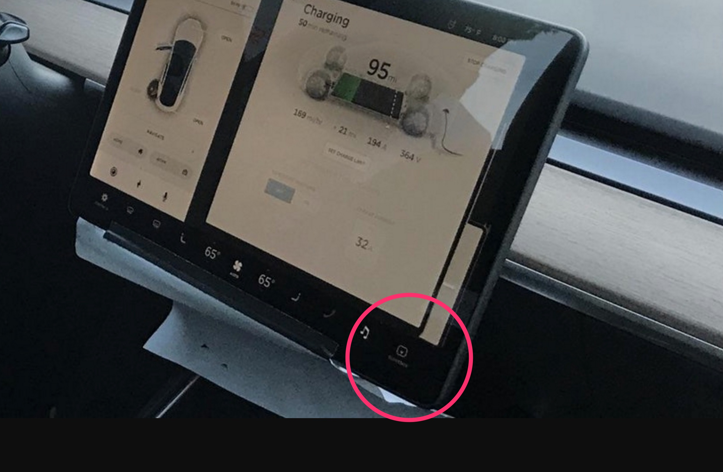 Tesla Model 3 Glove Box Button Teslarati