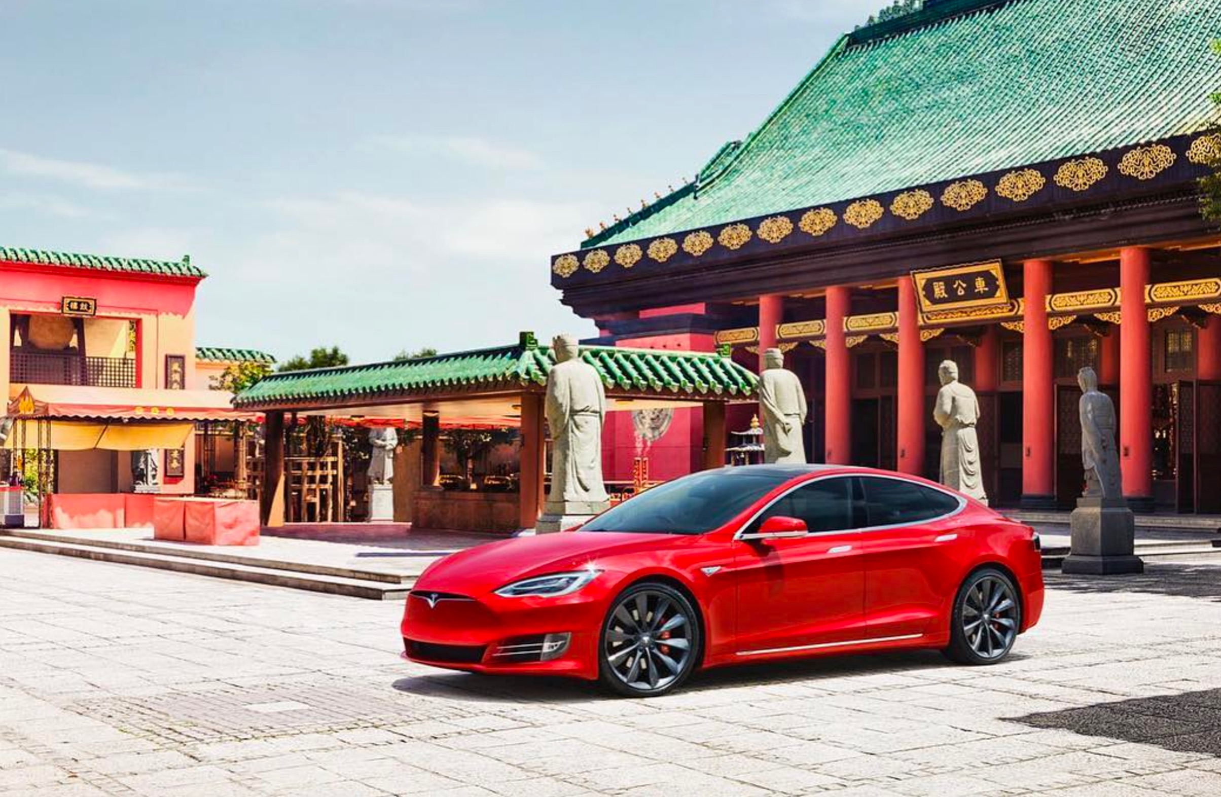 red-tesla-model-s-china